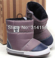 FREE SHIPPING----fashion snowboots for baby boy children skidproof boots winter wear first walkers soft soled boot 1pair/lot 711(China (Mainland))
