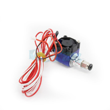 3D printer E3D V6 remote print head extruder with fan bracket Thermistors Cartridge Heater J HEAD