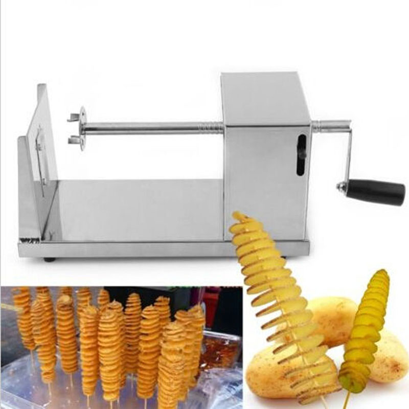 New Sale!!! New Manual Stainless Steel Spiral Potato Slicer Potato Tower Kitchen Tool accesorios de cocina Free Shipping MTY3(China (Mainland))