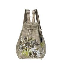 2016 New Women Flower Drawstring Vintage Retro Travel Satchel Backpack Linen Shoulder Bag National Rucksack Student Beautiful(China (Mainland))