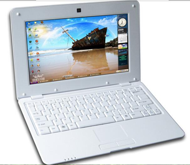 10inch Mini Laptop Via 8880 Dual Core Android 4.4 Notebook Computer 1GB 8G webacm HDMI netbook laptop kids gift laptop(China (Mainland))