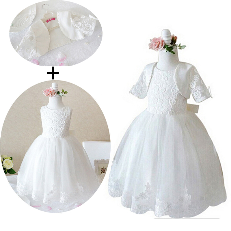 Elegant 2016 Wedding Flower girls Dress Princess Bridesmaid Gorgeous Lace Child tulle tutu fancy girls clothes kids clothing(China (Mainland))