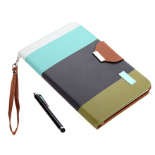 Big Sales Magnetic Flip Wallet Smart Cover Stand Case for iPad mini PU Leather Hybrid Color Wake/Sleep Gift Stylus Pen Black(China (Mainland))