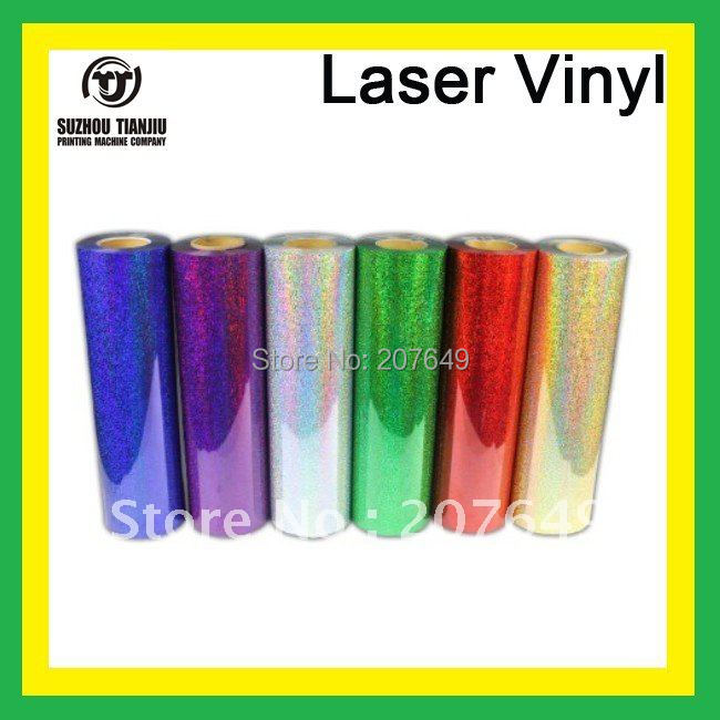 "TJ High-Quality Laser heat transfer vinyl for t shirts width is 0.5meter(20"") order one meter by one meter(China (Mainland))"