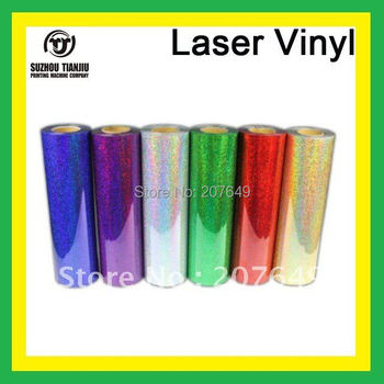 TJ High-Quality Laser heat transfer vinyl,laser vinyl,t-shirts transfer vinyl 6 colors