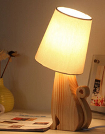 2015 Free shipping creative Pet table lamp brief bedroom lamp baby night light Small night Home decoration in cat shape DY-1462(China (Mainland))