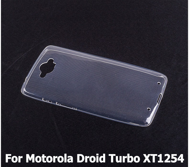 Ultra-thin Soft Transparent TPU Case Motorola Droid Turbo XT1254 - 2015 Special Offer store