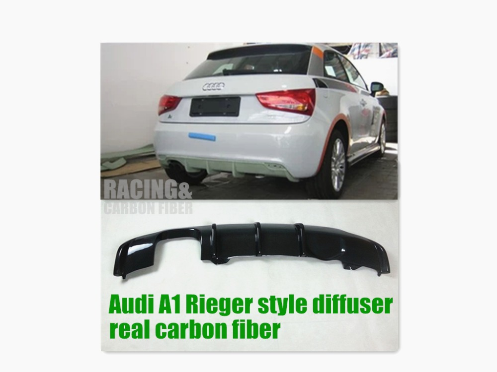 buy audi a1 carbon fiber rear diffuser for audi a1 nice fitment quality from. Black Bedroom Furniture Sets. Home Design Ideas