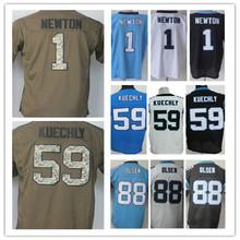 HOT Cheap men's jersey,Elite 1 Newton 13 Benjamin 88 Olsen 59 Kuechly Jerseys,Size M-XXXL,Best Quality,Authentic Jersey(China (Mainland))