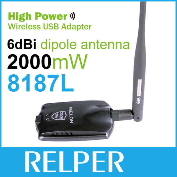 free shipping High Power 2.4GHz USB Wireless Networking Wifi Adapter with 5dbi Antenna