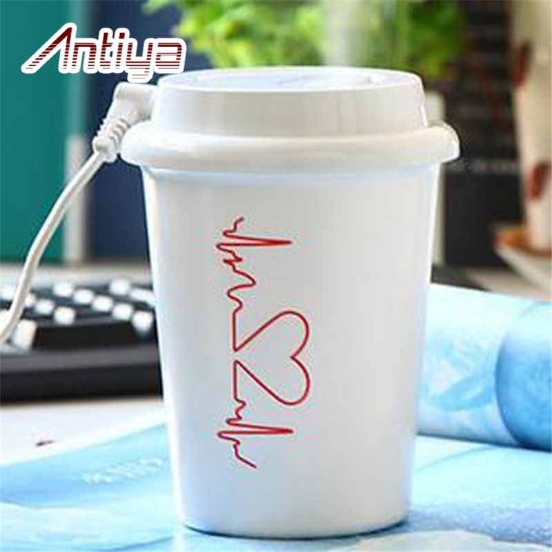 Coffee Cup USB humidifier Car air purifier portable oxygen concentrato spread fogger PC Power Adapter Car Charger DC5V ATY-008(China (Mainland))