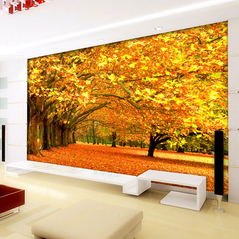 Mural autumn wallpaper for for Autumn forest 216 wall mural