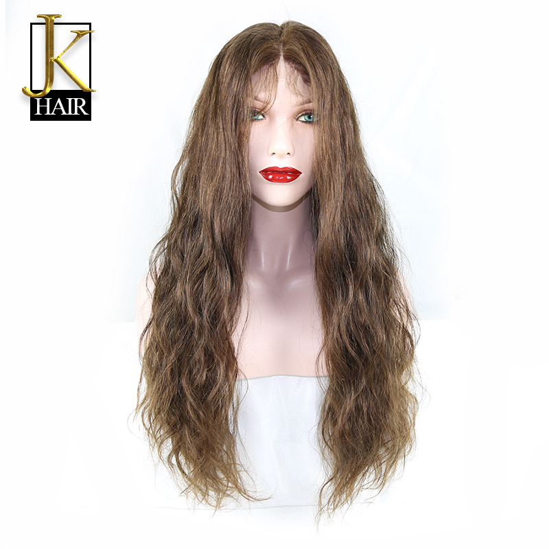 JK Unprocessed 7A Glueless Full lace human hair wigs for black women Brazilian virgin hair body wave human hair lace front wigs<br>