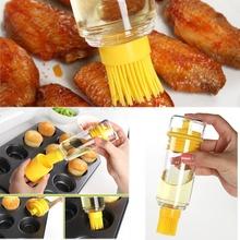 Silicone Honey Oil Brush Bottle Cooking Baking Pancake Basting BBQ Tool(China (Mainland))