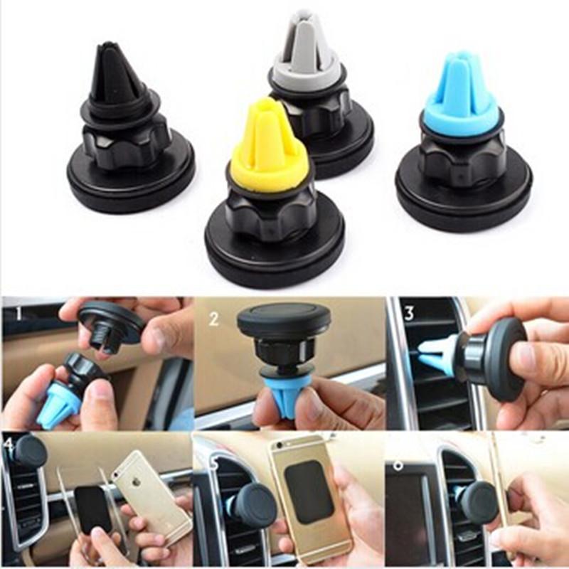 100 X Universal Magnetic Car Air Vent Conditioner Cellular Phones Mount Holder for Meizu M2 Mini for LG Google Nexus 5(China (Mainland))
