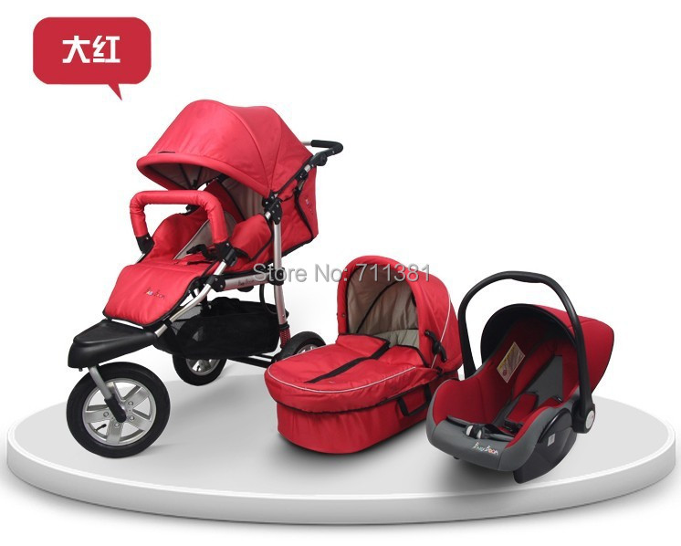 Popular Selling Baby Pushchair 3 in 1 New Arrival Baby Strollers 3 in 1 Aluminuma 3 Air Wheels Baby Prams 6 Colors For Option<br><br>Aliexpress