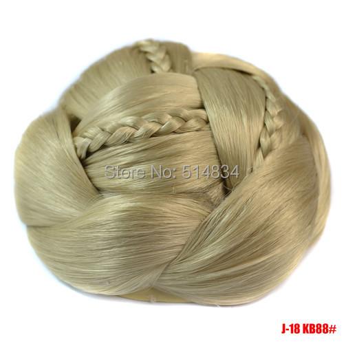 J18 Synthetic Blonde Dome Chignon twist styles hair bun extension hairpiece hair buns braid hair pieces bun(China (Mainland))