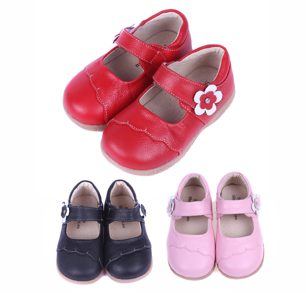2016 Spring Autumn Girls Shoes Princess genuine leather children shoes female kids dress shoes real leather Kids Party Shoes(China (Mainland))
