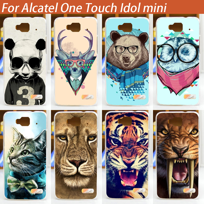 High Quality Painting Hard Plastic Case Cover For Alcatel One Touch Idol Mini 6012 6012A 6012X 6012W Phone Bay Luxury Cases(China (Mainland))