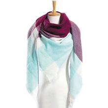 Top quality Winter Scarf Plaid Scarf Designer Unisex Acrylic Basic Shawls Women's Scarves hot sale VS50(China)