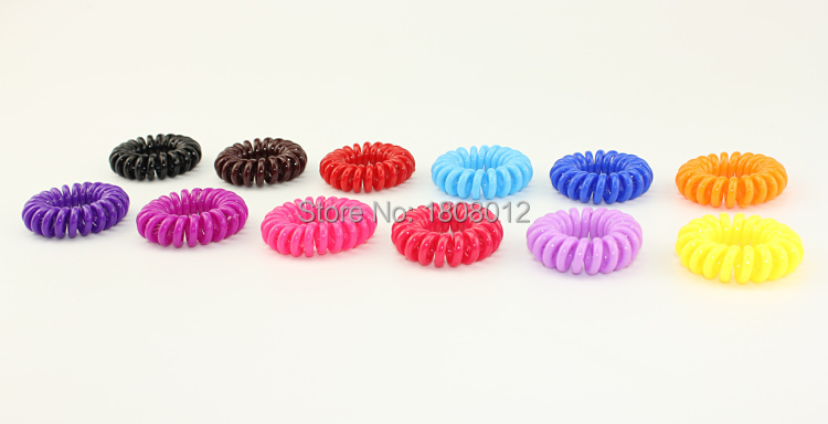 Mixed 20piecs/lot Telephone Cord Elastic Hair Ring For Girl Rubber Band Tie plastic ring(China (Mainland))