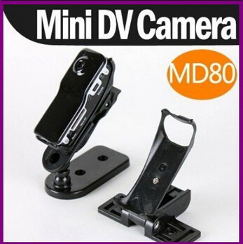 crazy Price!Free Shipping the world's smallest Portable : MD80 Mini DV Video Camera Hidden DVR Camera Without retail box(China (Mainland))