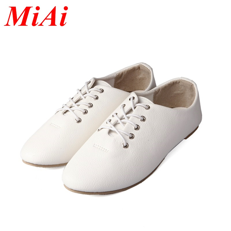 new 2016 fashion high quality vintage women flat shoes womens spring summer autumn lace up casual shoes woman<br><br>Aliexpress