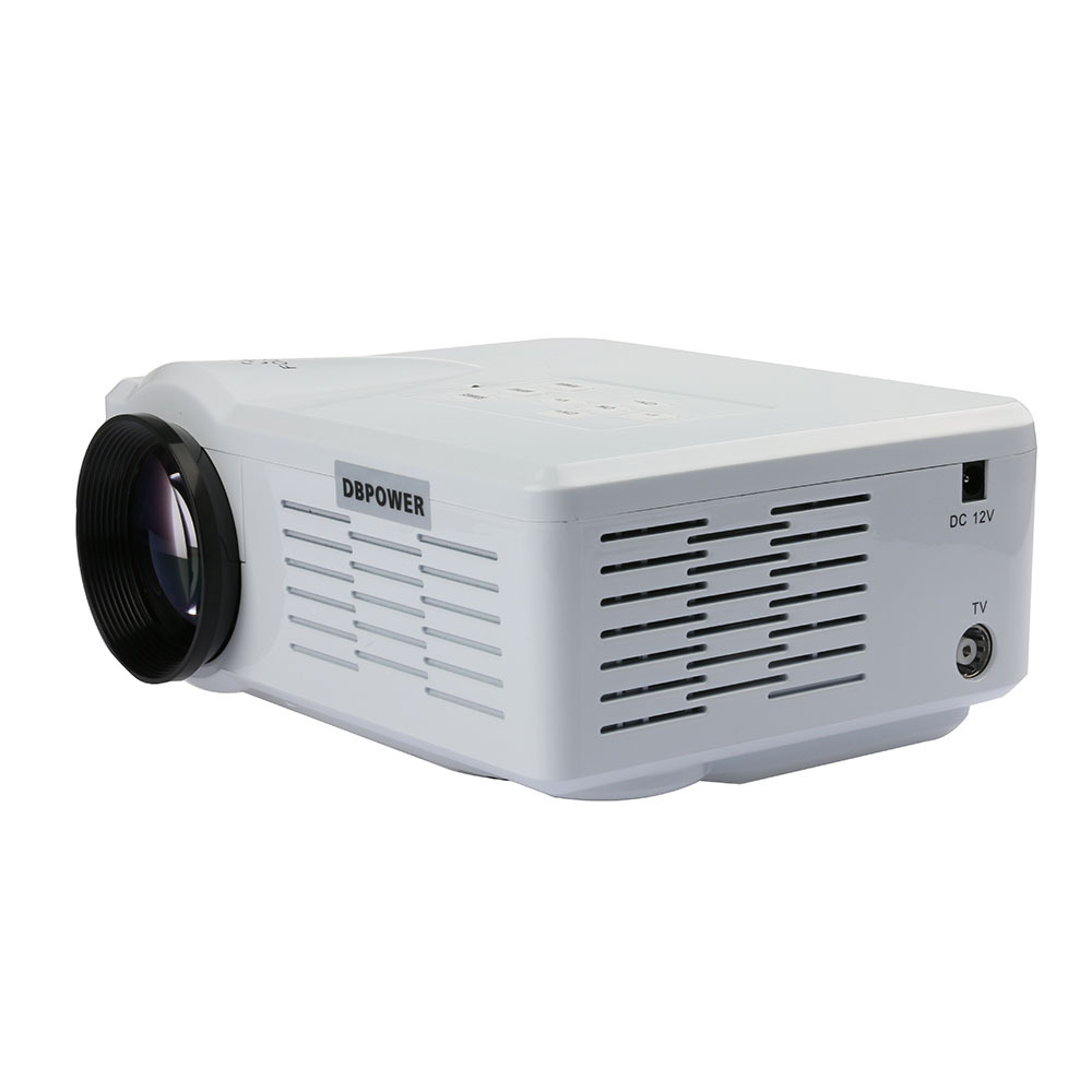Uk stock portable led mini projector full hd 800lumen for Mini portable pocket projector