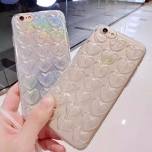 New Love Heart Bling Glitter Case for iPhone 6 Plus 6S Plus 5.5″ Fashion TPU Cases Protective Shell Cover with Strap