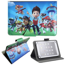 Patte Patrouille La Patrulla Canina Gifts Patrol Stand Leather Case Cover for Chuwi Vi7 Android 5.1 3G Phablet 7 inch Tablet PC