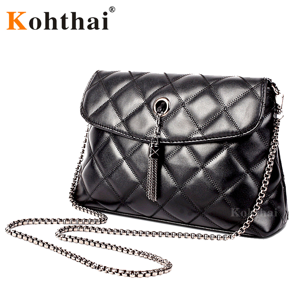 Kohthai Women Messenger Bags Quilted Leather Women Bag Chain Crossbody Handbags Women's Hand Bag Brand Shoulder Bag Lady FB075(China (Mainland))