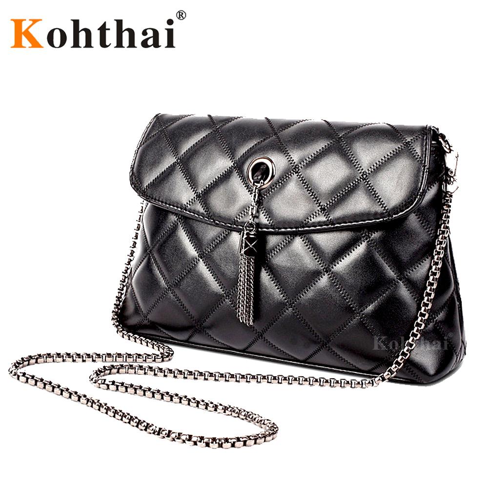 Kohthai Women Messenger Bags Quilted Leather Women Bag Chain Crossbody Handbags Women's Hand Bag Brand Shoulder Bag Lady FB075(China (Mainland))