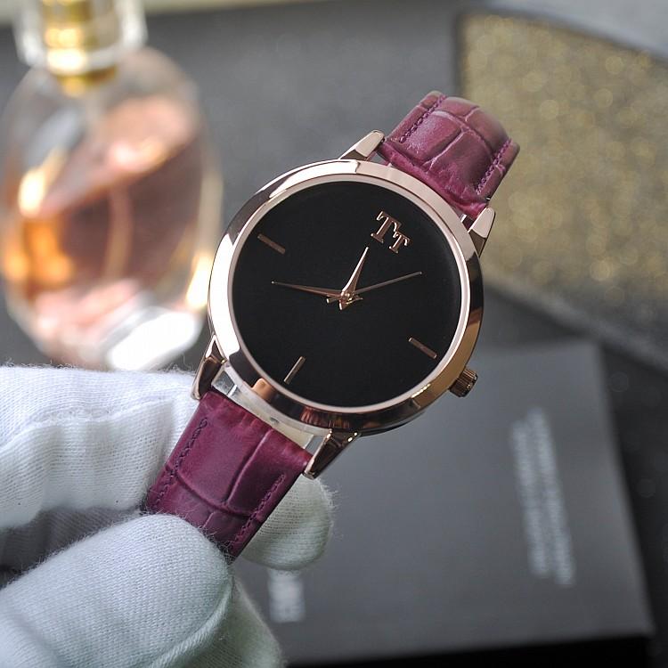 Luxury Brand Мода Женщины Девушка Кварцевые Часы Простые Сюжетные Mullti Цвета Кожаный Ремешок Женские Наручные Часы relogio feminino OP001