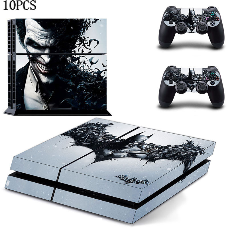 Wholesale price ! 10PCS Clown Batman design Cover Skin Sticker For PS4 PlayStation 4 Console and 2 Controller skin<br><br>Aliexpress