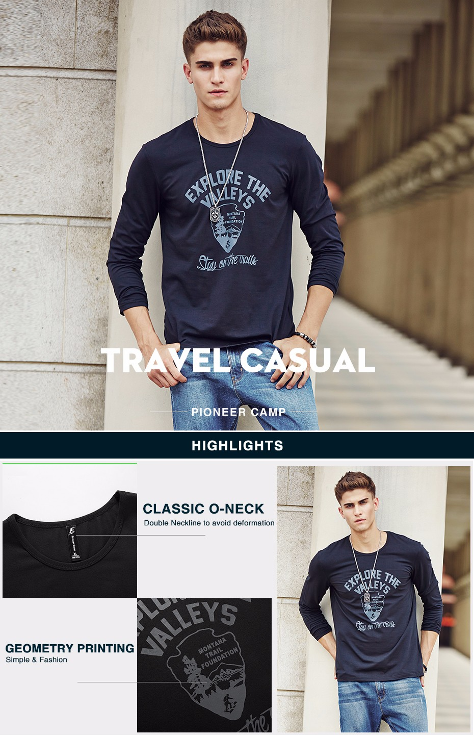 HTB1WE.AKVXXXXXkXFXXq6xXFXXXN - Pioneer Camp men Hot T shirt fashion brand clothing Men's Long Sleeve T Shirt Cotton Elastic Casual T-Shirt Male 4XL plus size