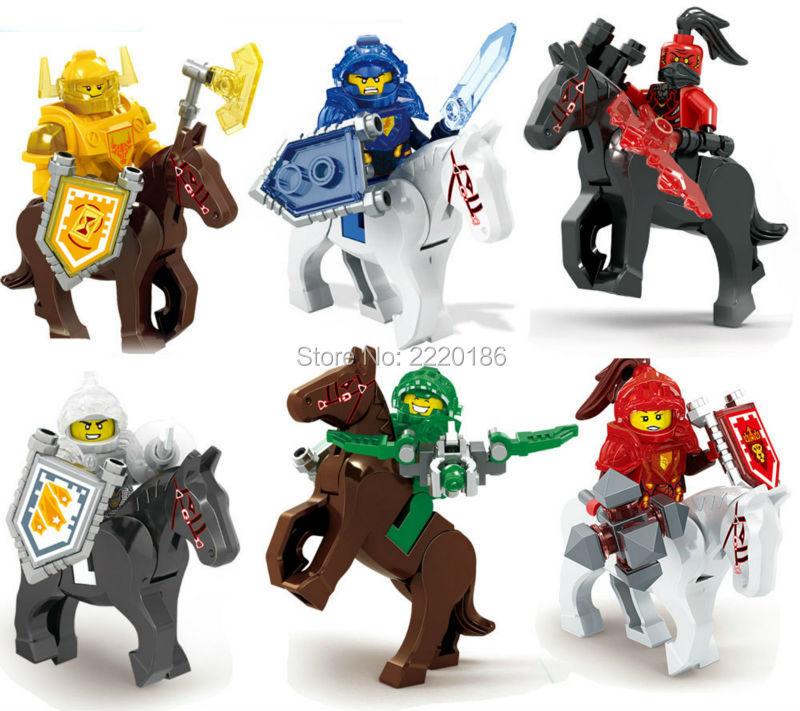 Nexus Knights Future Knight Castle Warrior 2016 New 6pcs/lot Building Blocks Minifigures Bricks Kids Toys birthday gifts(China (Mainland))