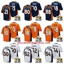 Denver Broncos,Peyton Manning,Von Miller,Emmanuel Sanders,Demaryius Thomas,Brandon Marshall ,Aqib Talib,with the 50th SB patch(China (Mainland))