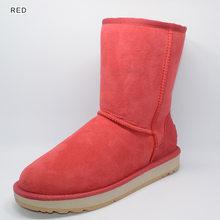 INOE Gerçek Koyun Derisi deri kış kar botları kadınlar için Shearling Kürk yün astarlı kışlık ayakkabı flats yüksek kaliteli(China)