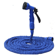 Expandable 25/50/75/100/125 FT Magic flexible Plastic Garden water Hose Drip irrigation Car Watering with Spray Gun Blue Tobuy(China (Mainland))