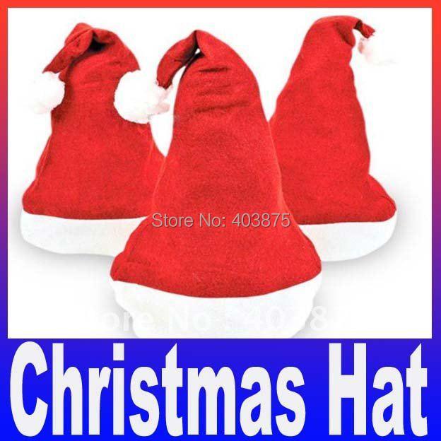 Christmas x'mas Hat Red fashion Santa xmas Hat Cheaper christmas headwear Free Shipping(China (Mainland))