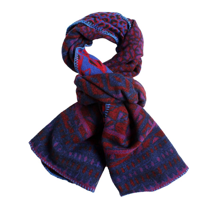 Women's Geometric Leopard Printing winter poncho winter shawl winter scarf Purple Red(China (Mainland))
