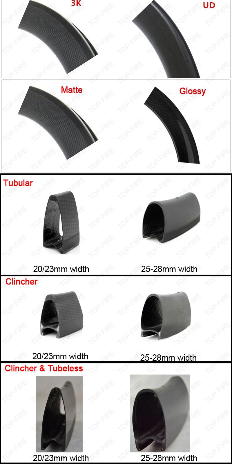 700c carbon rims