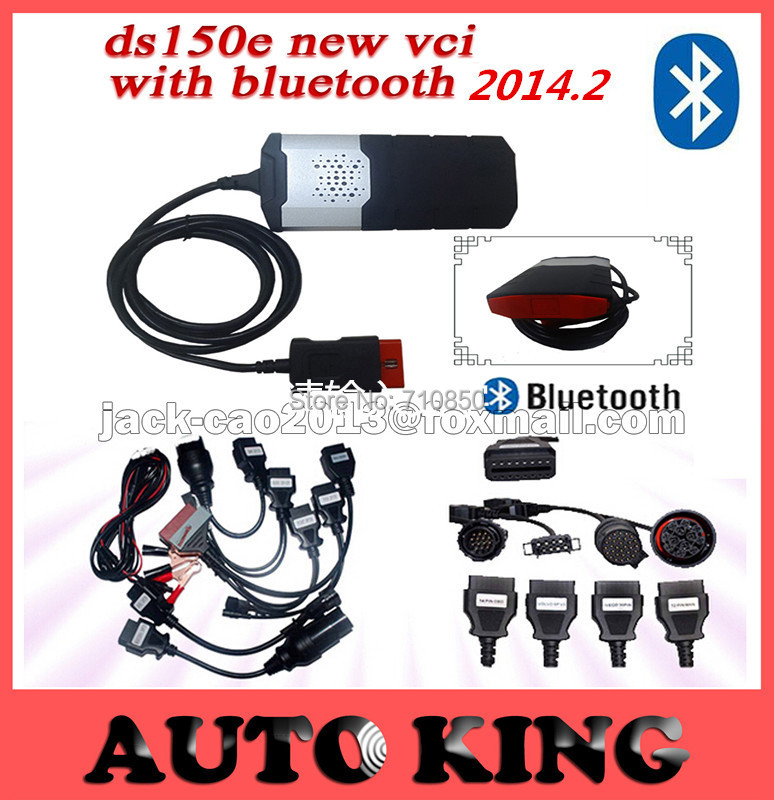 Panic buy ! ds150e new vci with Bluetooth function best tcs cdp pro with full 8 car cables + 8 truck cables --DHL FREE SHIPPING(China (Mainland))