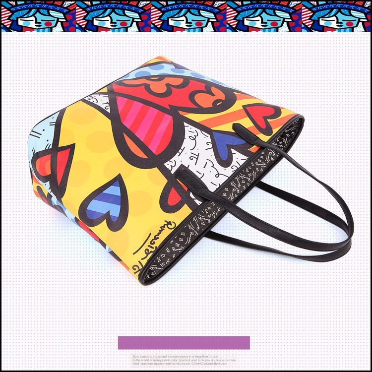 ROMERO BRITTO New Fashion Handbags 2016  Ladies' Messenger Large Capacity Minimalist Shoulder Bag Printing Graffiti Many  Style