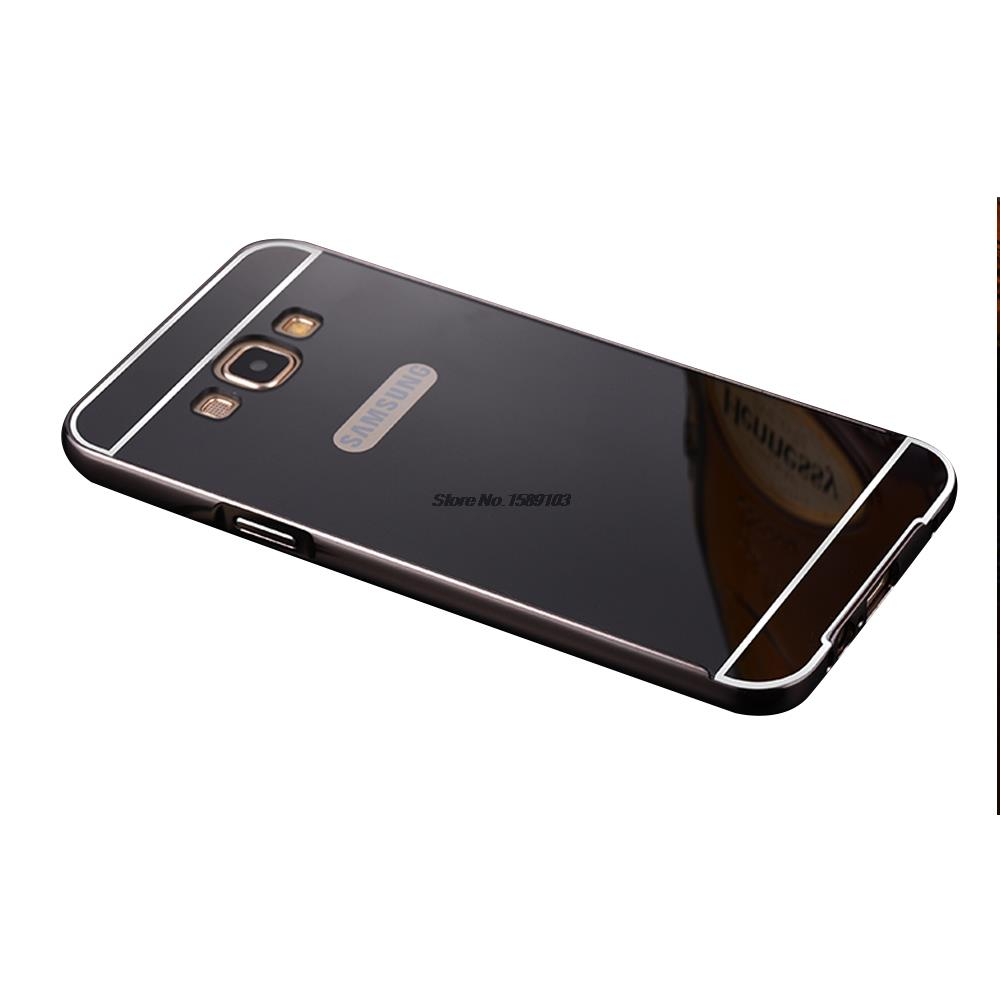 2 in 1 Detachable Metal Aluminum Bumper Frame For Samsung Galaxy J3 J300 inch Case With Mirror Cover Thin Coque Funda Capinha(China (Mainland))