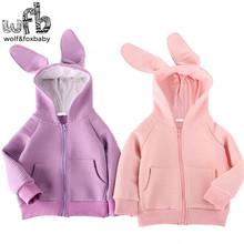 Retail 3-10years Long Sleeve sweatshirt hoodies bunny coat baby kids children girls boys Clothes Infant spring fall(China (Mainland))