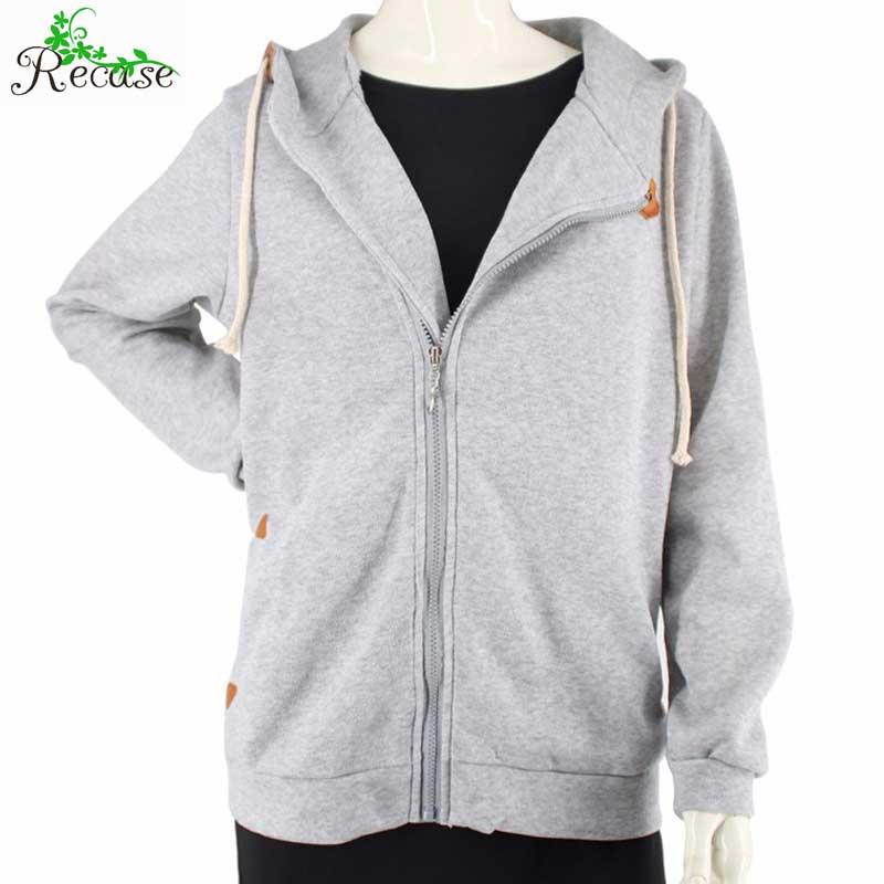 2016 Fashion Side Zipper Pockets Women Jacket Coat Casual Warm Solid Spring Autumn Hooded Outdoor Sport Female Outwear NZ-JK-14(China (Mainland))