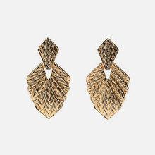 Miwens Za 2019 новые стильные металлические бусины из камня в виде раковины большие висячие Подвесные серьги женские оптовая продажа ювелирных и...(China)