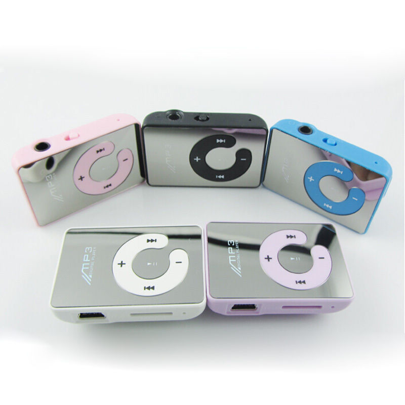 Mini Mirror Clip USB Digital Mp3 Music Player Support 8GB SD TF Card 6 Colors Can