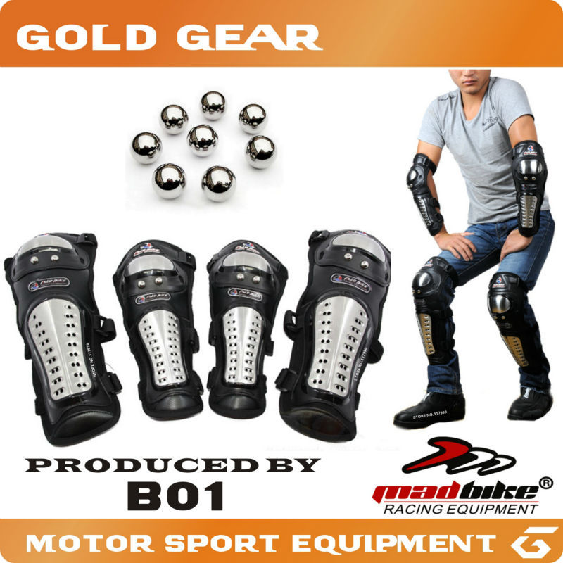 Motorcycle Protective kneepad Motorcycle Knee&Eblow Protector Moto Protection Safety Racing Stainless steel Guard Protection(China (Mainland))